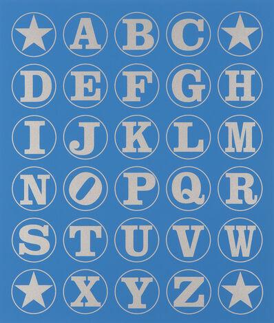 Robert Indiana, 'Alphabet Wall (Silver on Blue)', 2011