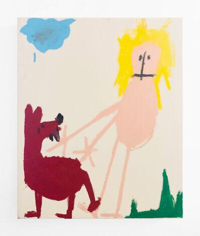 Andi Fischer, 'OBACHT roter Vogel unter Sonn', 2018