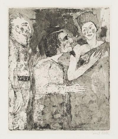Emil Nolde, 'Woman, Man, Servant', 1918