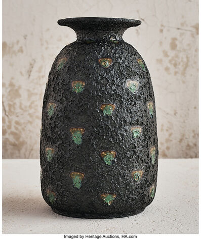 Edmond Lachenal, 'Lava and Jade Vase', circa 1900