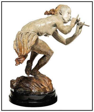 Richard MacDonald, 'Richard MacDonald 1/2 Life The Piper Large Bronze Sculpture Signed Music Ballet', 1998