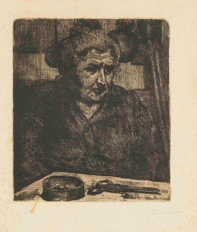 Umberto Boccioni, 'Gisella/La madre davanti al tavolo', 1910