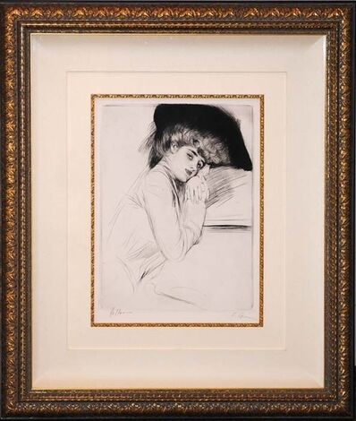 Paul César Helleu, 'Femme au Chapeau Noir', ca. 1900