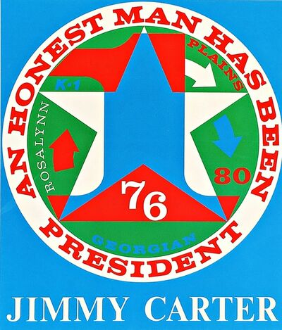 Robert Indiana, 'An Honest Man Has Been President: Homage to Jimmy Carter (Sheehan, 112)', 1980
