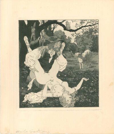 Emil Sartori, 'Erotic Scene VII - Illustration', 1907