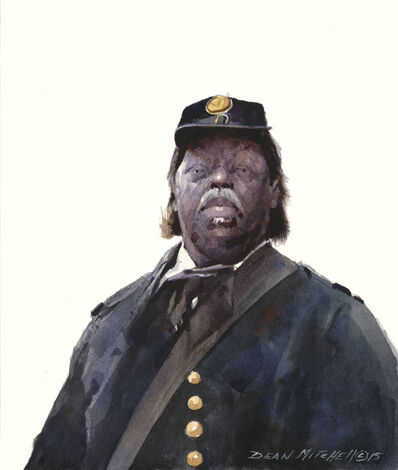 Dean Mitchell, 'Buffalo Soldier in Blue', 2015