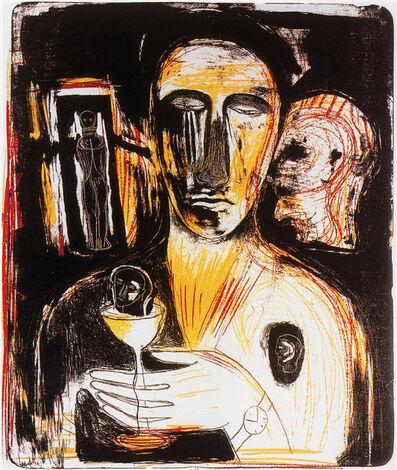 Mimmo Paladino, 'Come in uno Specchio', 1989