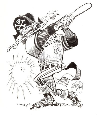 Jack Davis, 'Pittsburgh Pirates ', 1990