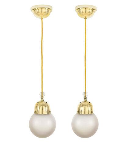 Josef Hoffmann, 'Two Hanging Lamps', ca. 1910