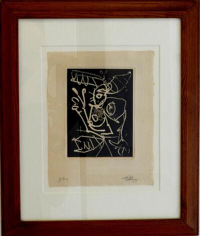 """Antonio Saura, '""""Petite dame""""', 1969"""