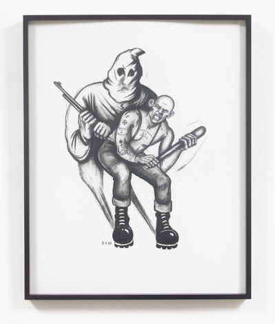 Sue Coe, 'Skinhead/KKK', 1993