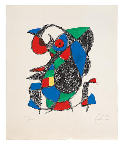 Joan Miró, 'One Plate, from 'Miro Lithographe II'', 1975