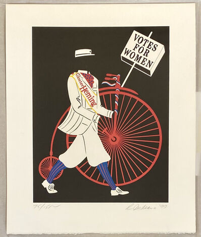 Robert Indiana, 'Gloster Herning. (Votes for Women) ', 1977