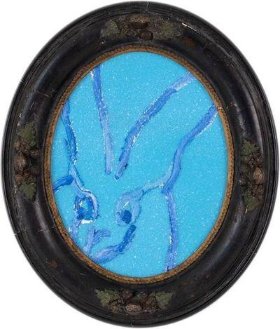 Hunt Slonem, 'Untitled (Blue Bunny Oval)', 2019