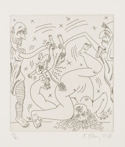 Keith Haring, 'Untitled (from The Valley Suite (see Littmann p.136-141)', 1989