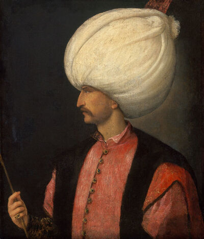 Attributed to Venetian, 'Sultan Suleiman II ', Ca. 1530