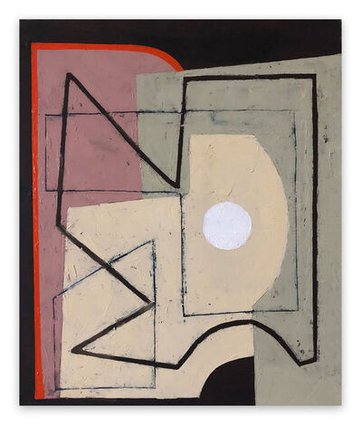 Jeremy Annear, 'Red Borderline with white sphere II', 2018