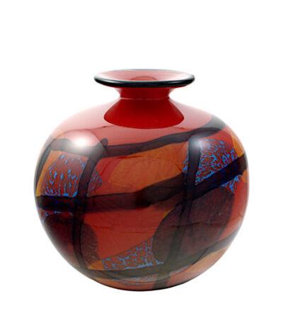 Ioan Nemtoi, 'Red Round Vase (Red karo)', 2005