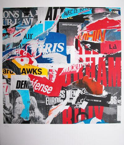 "Jacques Villeglé, '""50 Rue Turbigo"" original embossed lithograph with carborundum', 2014"