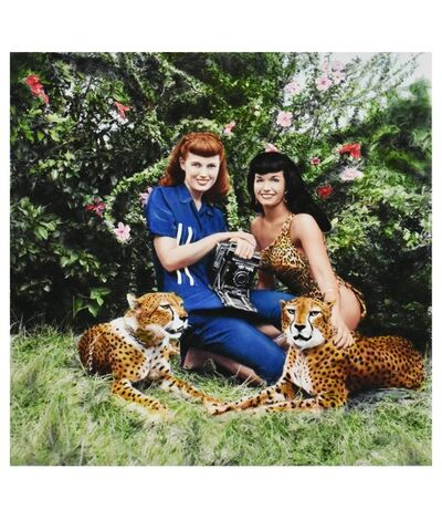 Bunny Yeager, 'Bettie Page and Cheetahs at Africa USA, Boca Raton, Fl.', 1954