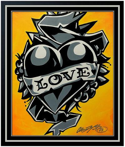 Allison Lefcort, 'Allison Lefcort Acrylic Painting Original Signed Modern Street Graffiti Artwork', 21st Century