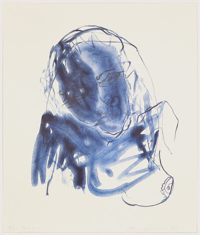 Tracey Emin, 'Blue Madonna', 2020