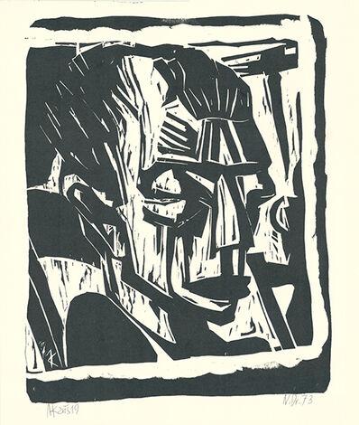 Max Kaus, 'Männerkopf', 1919