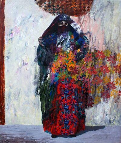 Omar Al Rashid, 'Woman in Abaya (black traditional long cover)', 2016