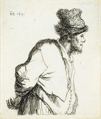 Rembrandt van Rijn, 'A Peasant with Hands Behind his Back', 1631