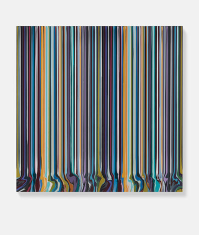 Ian Davenport, 'Paired Black and Grey', 2020