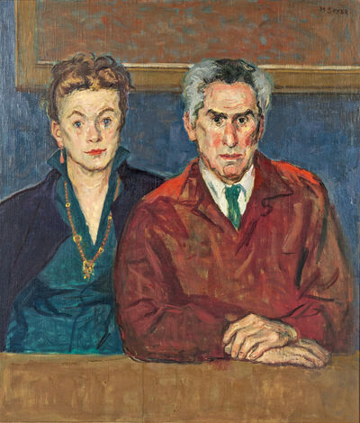 Moses Soyer, 'Portrait of Chaim and Renee Gross'