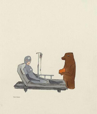 Marcel Dzama, 'Superhero in the Hospital', 2000