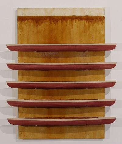 David Ruddell, 'Golden Board, Five Red Boats', 2013