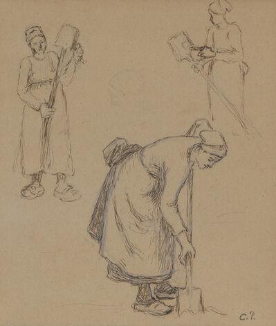 Camille Pissarro, 'Femmes travaillant', ca. 1880-83