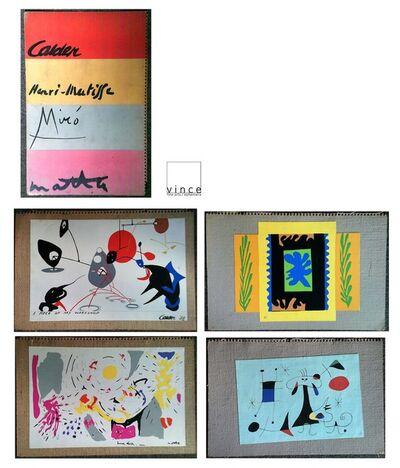 Alexander Calder, 'Original Set of 4- Wallpaper Samples, 1949, Silkscreen on Canvas/Burlap, with Original Folders, MUSEUM QUALITY, VERY RARE', 1949
