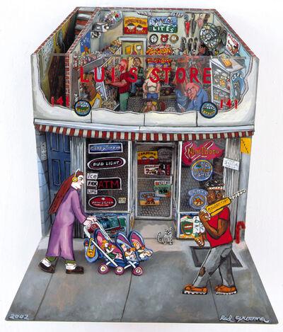 Red Grooms, 'Lui's Store', 2002