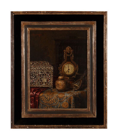 Max Schödl, 'Still Life with Clock, Satsuma Jar, and Mandolin', 1897