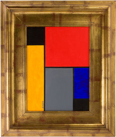 Seymour Zayon, 'Geometric Abstract Oil on Board by Seymour Zayon', ca. mid 20th century
