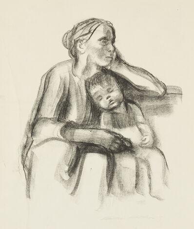 Käthe Kollwitz, 'Arbeiterfrau mit Schlafendem Jungen [Working Woman with Sleeping Boy]', 1927