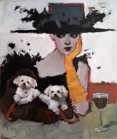 June Valentine Ruppe, 'Pups In A Purse', 2018