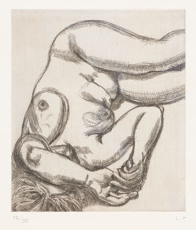 Lucian Freud, 'Woman on a Bed', 1991-1992