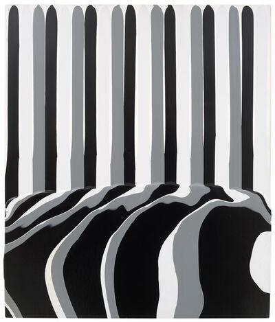 Ian Davenport, 'Puddle painting: 3 greys  ', 2010
