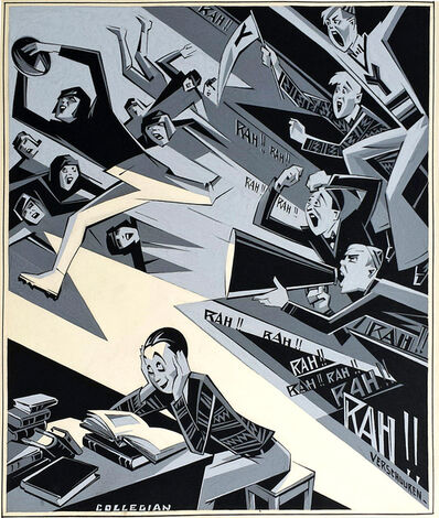 Charles Verschuuren Jr., 'Football Game: Brooklyn Eagle's Sunday Magazine  Cover Illustration', 1920-1929