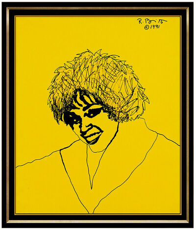 Romero Britto, 'Romero Britto Large Original Acrylic Painting On Canvas Whitney Houston Signed', 1991
