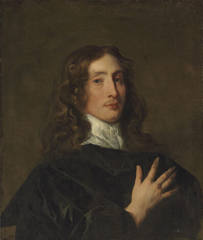 Peter Lely, 'Portrait of a gentleman in black, bust-length'