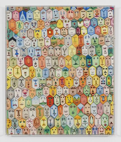 Alighiero Boetti, 'Faccine Colorate', 1979