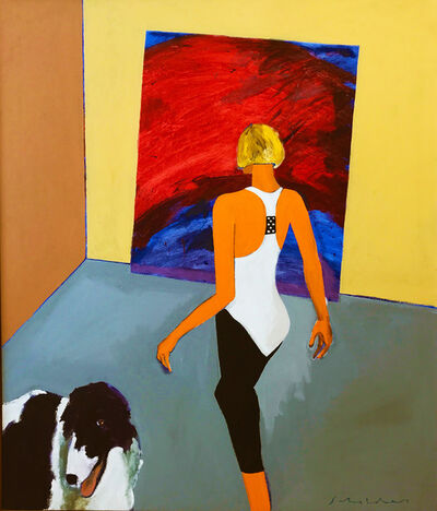 Fritz Scholder, 'Woman and Dog No. 6'