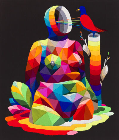 Okuda San Miguel, 'Mom's Bird', 2016
