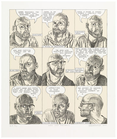 Anton Kannemeyer, 'Nine Self-portraits', 2017