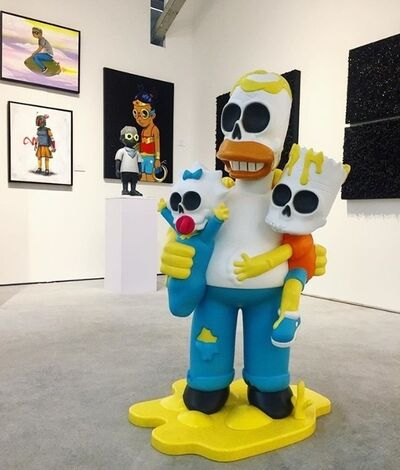 "GONDEKDRAWS ""Matt Gondek"", 'Simpsons Nuclear Family 4ft statue', 2018"
